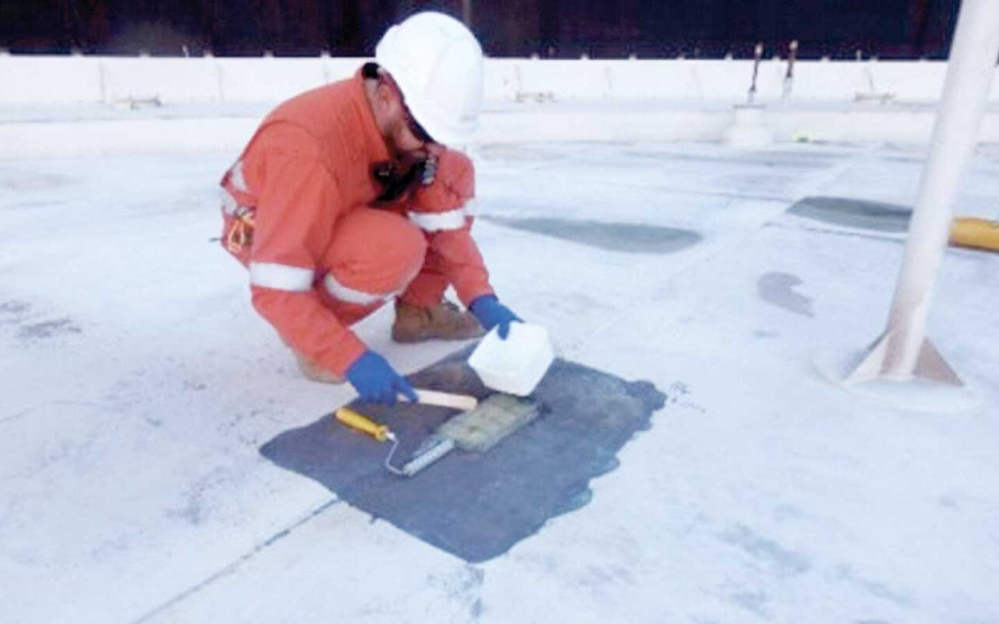In Service Floating Roof Patch services by Spike Enterprise