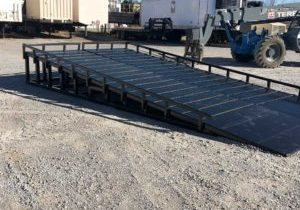 Image of Custom vacuum truck ramps designed by Spike Enterprise
